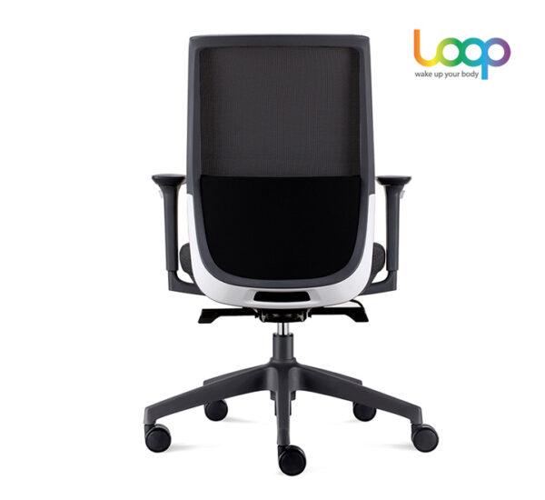 เก้าอี้สำนักงานเพื่อสุขภาพ ดำ หลัง