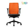 เก้าอี้สำนักงานเพื่อสุขภาพ ส้ม