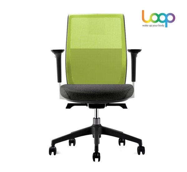 เก้าอี้สำนักงานเพื่อสุขภาพ เขียว