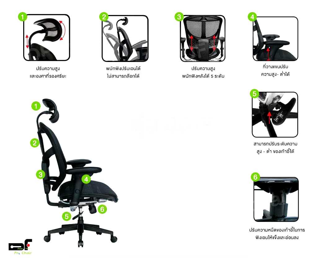 เก้าอี้สุขภาพ JJ-H Enjoy Series (2)
