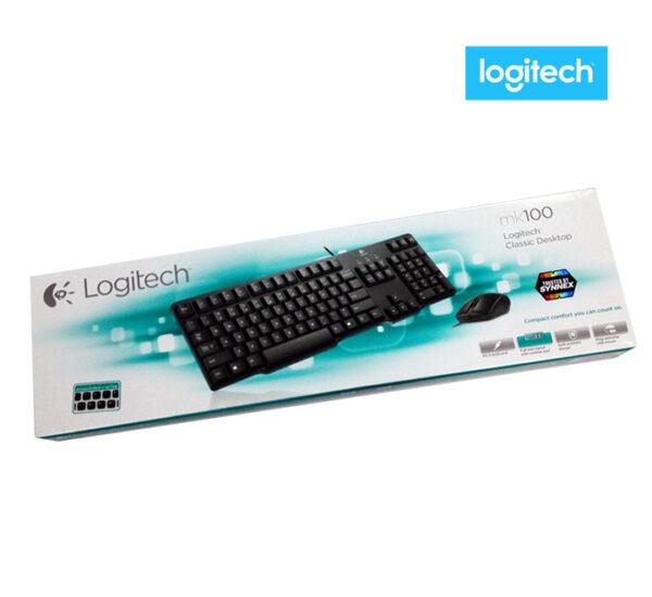 เมาส์ คีย์บอร์ด logitech mk100 combo