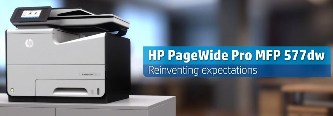 HP 577Dw Printer Banner