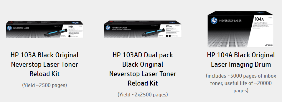 HP Laser Toner Cartridges and Kits